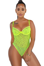 Adogirl Fluorescerend Groen Sheer Mesh Luipaard Print Bodysuit Spaghettibandjes Backless Vrouwen Sexy Bodysuits Club Party Tops(China)