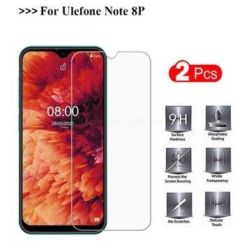 Перейти на Алиэкспресс и купить Закаленное стекло для Ulefone Note 8P, 2 шт., защита экрана, защита от царапин, Защитная пленка для телефона Ulefone Note 8P, 5,5-дюймовый Чехол Vetro