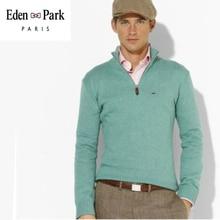 Men's Sweater Turtleneck Zipper Pure-Colour Clothes Pullover