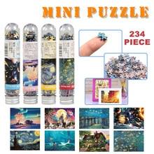234 peça tubo mini quebra-cabeça jogo de papel brinquedos para crianças adultos aprendizagem educação cérebro teaser montar jogos de brinquedo jigsaw