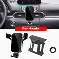 Мобильный телефон держатель для Mazda CX-5 2017 2018 2019 крепление на приборную панель GPS Держатель-зажим для мобильного телефона в автомобиль для ...