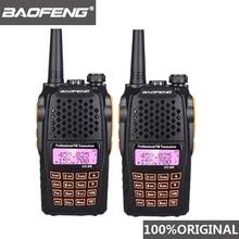 2 Stuks Baofeng UV 6R Twee Manier Radio Scanner 7W Vhf Uhf Dual Band Draagbare Walkie Talkie Ham Radio Hf transceiver Handige Radio Amador