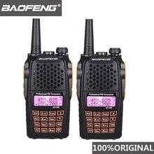 2 adet Baofeng UV 6R iki yönlü telsiz tarayıcı 7w VHF UHF Dual Band el telsizi Ham radyo Hf telsiz Handy radyo Amador