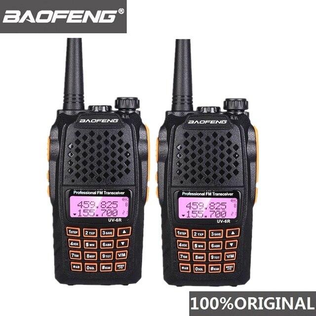 2pcs Baofeng UV 6R שתי דרך רדיו סורק 7w VHF UHF Dual Band מכשיר קשר נייד רדיו חם Hf שימושי משדר רדיו Amador
