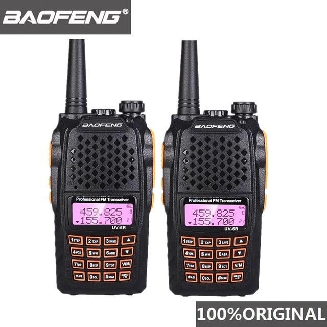 2pcs Baofeng UV 6R Two Way Radio Scanner 7w VHF UHF Dual Band Portable Walkie Talkie Ham Radio Hf Transceiver Handy Radio Amador