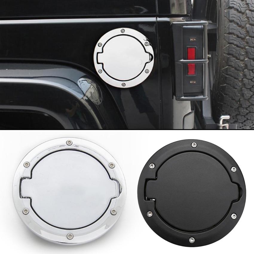 Gas Tank Cap Cover Fuel Filler Door Covers for Jeep Wrangler JK Unlimited Rubicon Sport Sahara 2 /& 4 Door 2007-2018