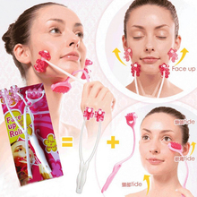 2 In1 Flower Shape Roller Massager Anti Wrinkle Face Neck Slimmer Massage Massager Roller Facial Slim Up Beauty Care Tool silicone rubber face slimmer exercise mouth piece muscle anti wrinkle lip trainer mouth massager exerciser mouthpiece face care