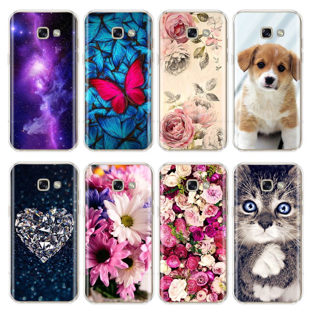 For <font><b>Samsung</b></font> Galaxy A5 2017 Case <font><b>A520</b></font> A5 Silicon Cute Phone Shell For <font><b>Samsung</b></font> A5 2016 <font><b>Back</b></font> <font><b>Cover</b></font> A510 A510F Protector Bumper Case image