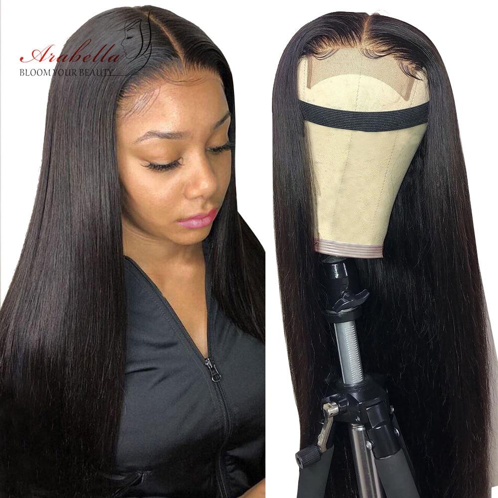 Perruque 180% cheveux brésiliens naturels Remy-Arabella | Perruque avec Closure 4x4, Pre Plucked avec Baby Hair, cheveux lisses, densité 100%