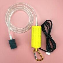USB Air Bubble Aerator Pond Pump Hydroponic Oxygen Aquarium Fish Tank Cable 1m Silent Mute Energy Saving Tool Air Compression