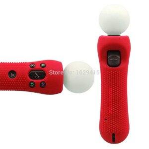 Image 2 - IVYUEEN 2 sztuk antypoślizgowe silikonowe etui gumowe skóra ochronna Case dla PlayStation PS VR Move sterownik ruchu czarny niebieski czerwony
