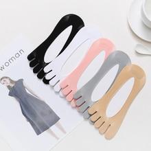 2021 Ортопедические Компрессионные Носки Цветные Профессиональные Спортивные Носки Хлопок 5 Пальцы Носки Для Женщин С Гелем Табличкой Дышащие Носки