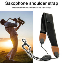 With Hook Single Shoulder Alto Tenor Musical Professional Belt Parts Clarinet Durable Instrument Saxophone Strap Universal(China)