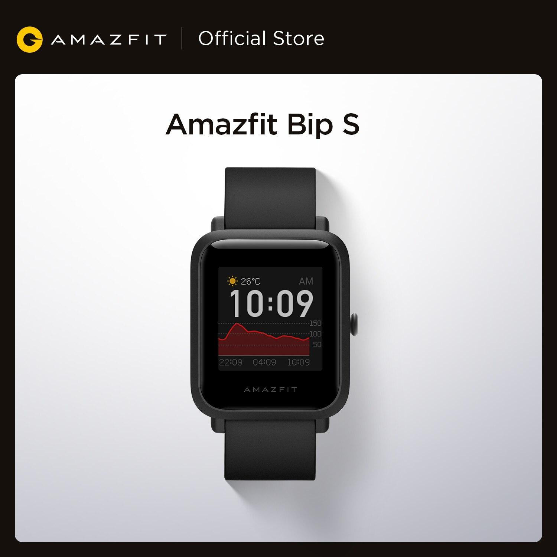 В наличии 2020 Global Amazfit Bip S Smartwatch 5ATM водонепроницаемые встроенные GPS GLONASS Bluetooth Смарт-часы для Android iOS Phone-0