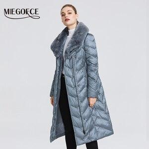 Image 2 - MIEGOFCE 2020 New Collection 여성 자켓 토끼 칼라 여성 겨울 코트 비정상적인 색상 방풍 겨울 파카