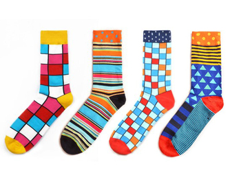 Colorful Sushi Mushroom Pattern Novelty Crew Socks Men's Funny Food Kawaii Sokken Creative Casual Cotton Party Socks For Male 1
