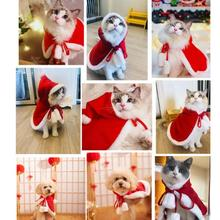 Pet Dog Christmas Halloween Cloak Hooded Style Shawl Winter Warm Puppy Cat Coat Jackets Clothes Costume Supply