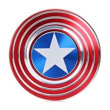 Captain America Fidget Spinner Metal EDC Hand Spinners ADHD Kids Christmas Gifts Metal Finger Toys Spinners Toys for Children E все цены