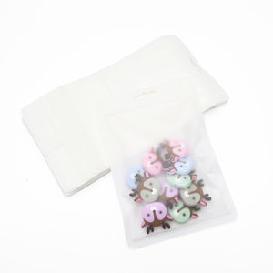 Image 5 - Wholesale 100pcs/lot Plastic Bags Pacifier Packaging & Display Accessory Safety BPA Free Silicone Beads Package Display Bags
