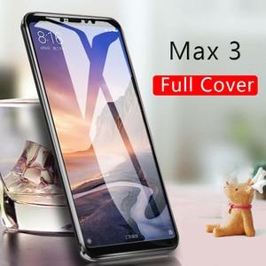 Casos Para Xiao mi mi Max 3 Caso Vidro Temperado Tela Cobertura Completa Sobre Ksio Xio mi mi Meu Max3 protetor Película Protetora Phone Glas 9h
