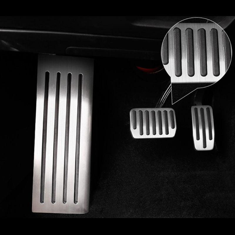 Pedal de pie para Tesla modelo 3 Acelerador de combustible de Gas Pedal de freno Pedal de apoyo almohadillas L9BC