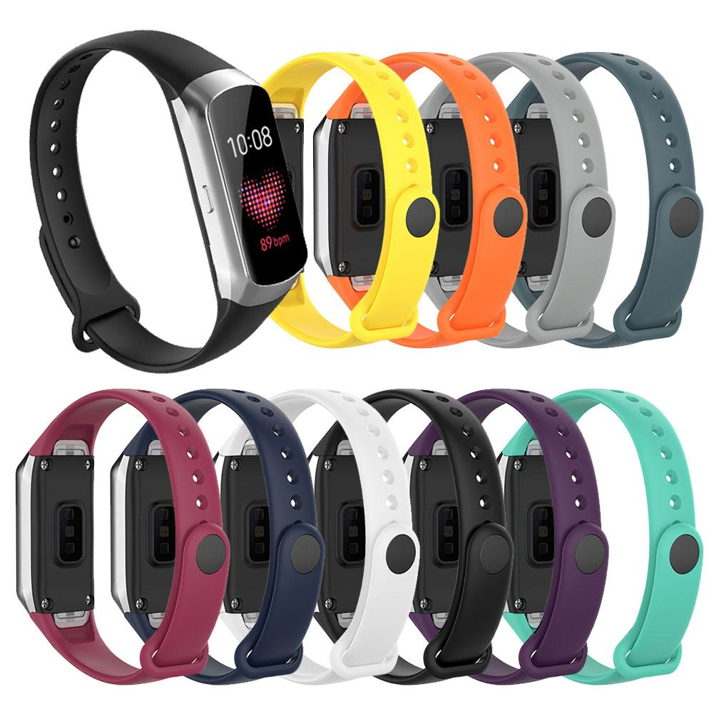 Silicone Watch Band For Samsung Galaxy Fit SM-R370 Smart Watch Wrist Band Strap Sport Bracelet Watch Strap Accessories
