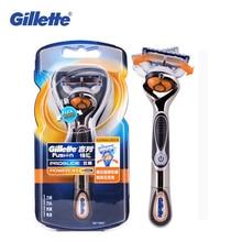 ג ילט Fusion 5 מכונת גילוח לגברים Proglide Flexball כוח בטיחות סכיני גילוח גברים של זקן גילוח מכונה סוללה מופעל נמוך רעש