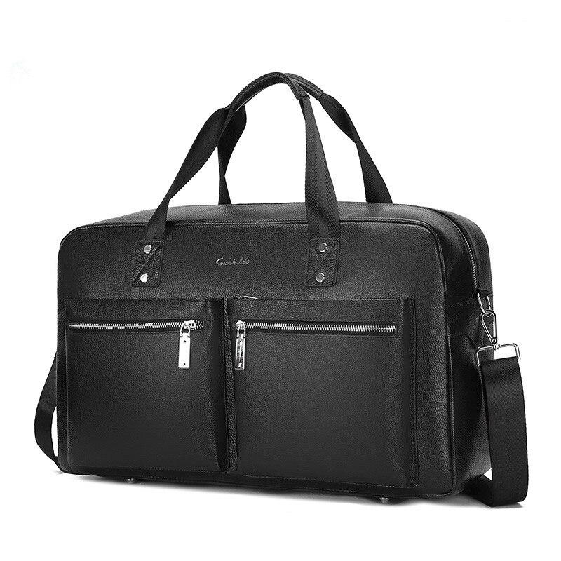 2020 Men's Classic Briefcase Genuine Leather Business Travel 14 Inch Laptop Bag Lawyer Handbag Portfolio Satchel Shoulder Bag