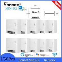 Sonoff – interrupteur Wifi bidirectionnel MiniR2, pour maison intelligente, contrôle à distance sans fil eWelink, Alexa, Google Home, DIY