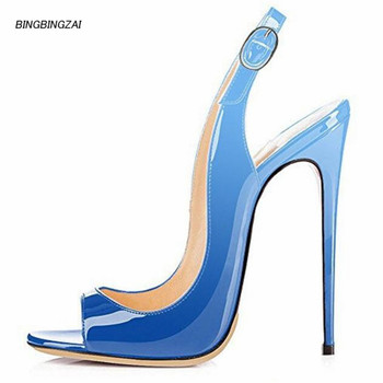 BBZAI New pattern Superior quality shoes woman 12CM SummerBig size shoes Thin Heels Fashion Show Comfortable 34-44 45