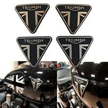 Motorcycle 3D Emblem Badge Decal Fuel Tank Sticker Logo For Triumph Bonneville Bobber T100 T120