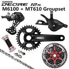 SHIMANO DEORE M6100 Groupset 34T 32T Crankset אופני הרי 1x12 Speed 10 51T 11 51T M6100 Groupset + MT610 כננת