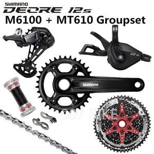 Image 1 - Shimano Deore M6100 Groepset 34T 32T Crankstel Mountainbike Groepset 1x12 Speed 10 51T 11 51T M6100 Groepset + MT610 Crank