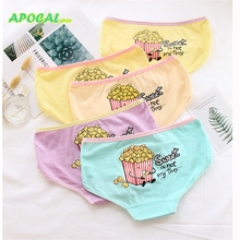 APOCAL Popcorn Graffiti Womens Panties Fashion Printed Cartoon anime Cotton Female Underwear Women Lingerie Casual Briefs Girl