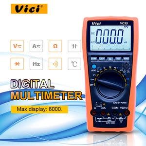 Image 1 - VICI VC99 LCD הדיגיטלי מודד 1000V AC DC התנגדות קיבול מד + תרמית זוג מדחום בודק עם פאוץ תיק
