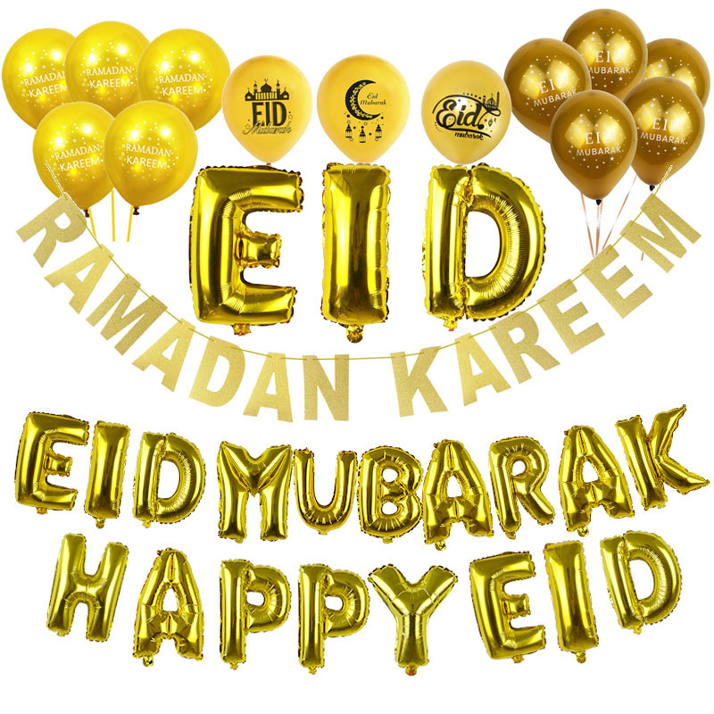 Home Garden Balloons Happy Eid Mubarak Ramadan Kareem Letter Foil Balloon Banner Party Decor Islamic Stbalia Ac Id