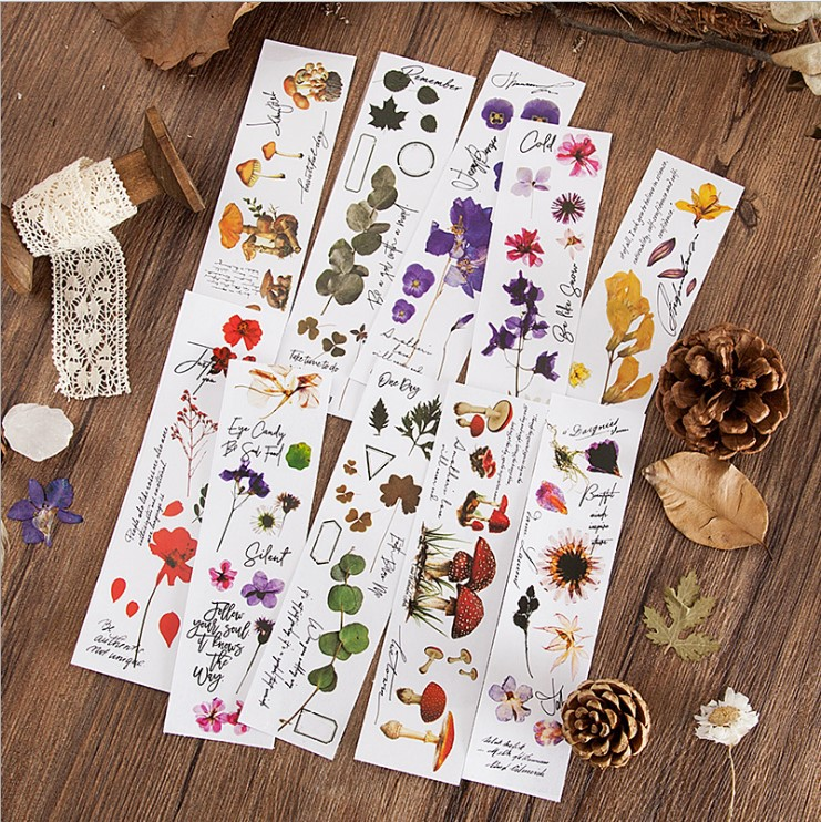 10pcs/lot Kawaii Stationery Stickers Embossed Diary Diary Planner Decorative Mobile Stickers Scrapbooking DIY Craft Stickers