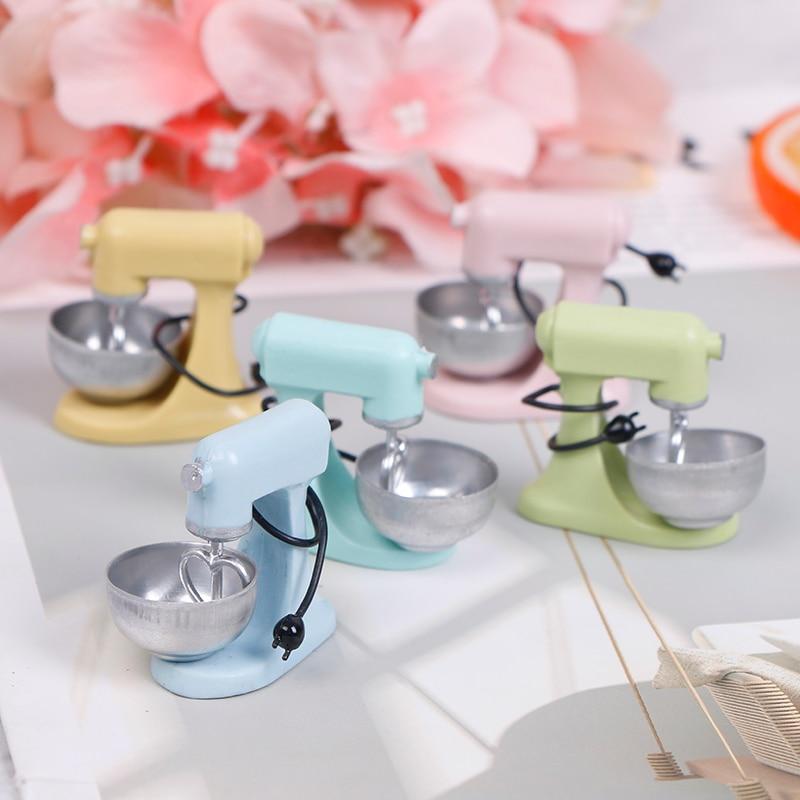 1:12 casa de bonecas miniatura cozinha moderna mixer modelo acessórios brinquedos