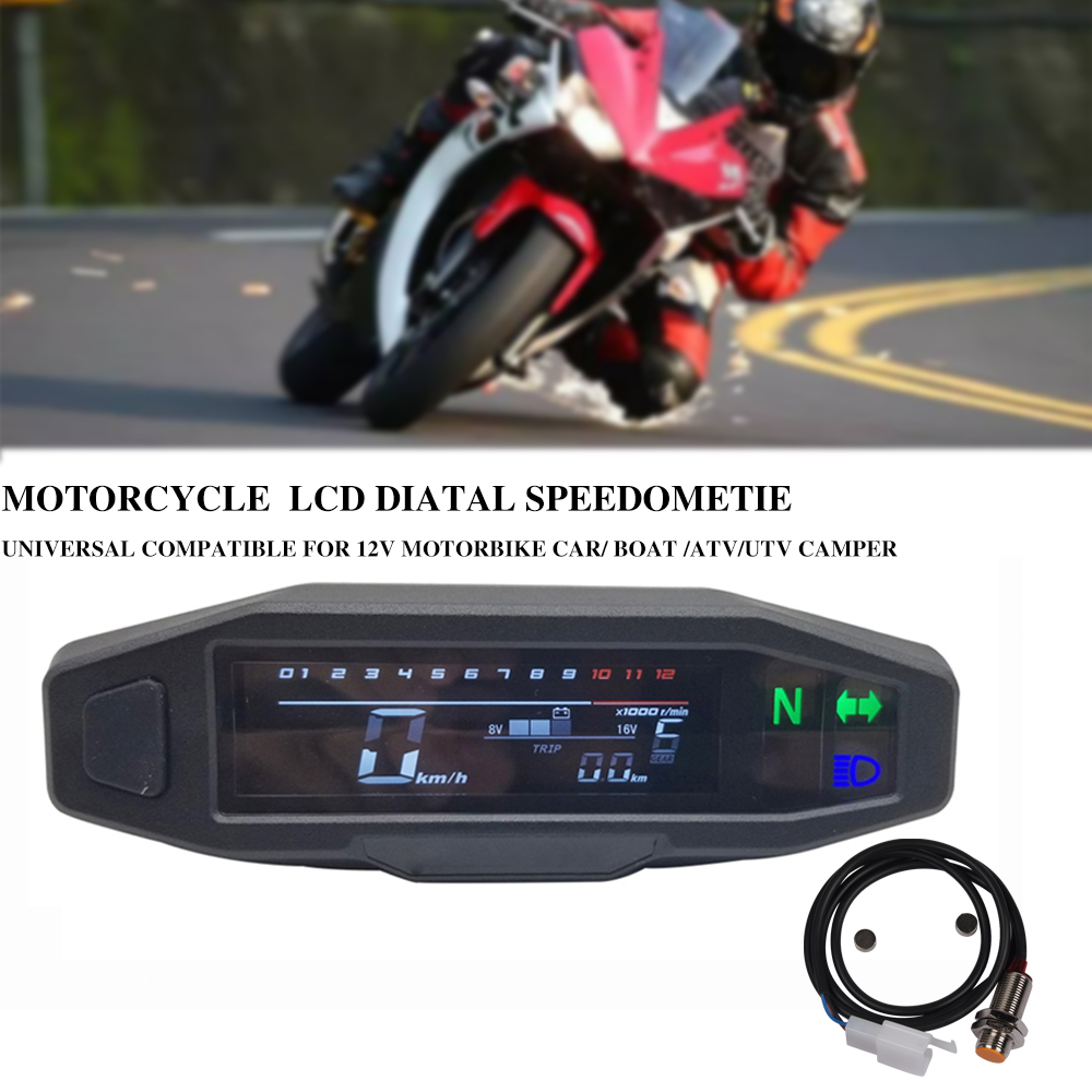 for Russian KR200 LCD speedometer digital motorcycle odemeter electric injection and carburetor meter