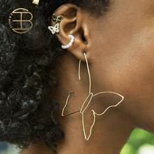Women's Fashion Romantic Gold Silver Color Wire Butterfly Earring Ctystal Enamel Butterfly Ear Cuff Small Pearl Clip On Earrings(China)
