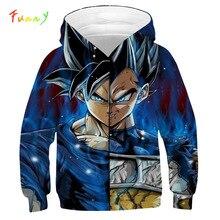 Camisola da criança goku meninos hoodies crianças roupas outono 2019 moda dragon ball hoodie manga comprida com capuz casaco vetement fille