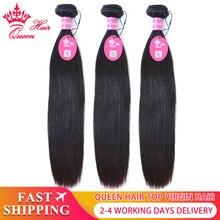 Queen Hair Products Brazilian Virgin Hair Straight Human Hair Bundles 100% Unprocessed 3pcs Hair Extensions 8″-28″ Free Shipping