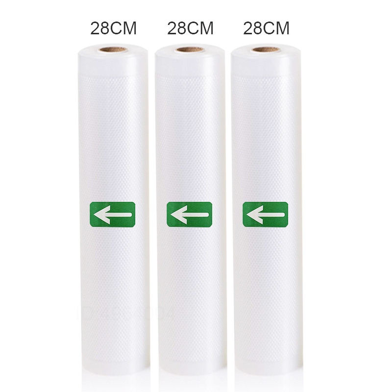 3 Rolls Food Vacuum Sealer Bags 12 15 20 25 28 X 500cm For Food Saver Rolls Home Sealing Vacuum Packer Bags
