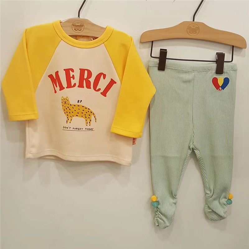Image 4 - 2019 Bebe de Pi** Korean Baby Boys Girls Fall Clothes Toddler Long Sleeve TShirt Lovely Cartoon Letter Print Tops Baby Tshirt-in T-Shirts from Mother & Kids