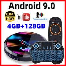H96最大X3スマートアンドロイドテレビボックスアンドロイド9.0スマートボックス8 18k amlogic S905X3 4ギガバイト128グラム/64グラム/32グラムrom 2.4グラム & 5 3g wifi 1000メートル4 18kメディアプレーヤー