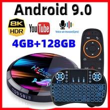 H96 ماكس X3 الذكية تي في بوكس أندرويد 9.0 الذكية صندوق 8K Amlogic S905X3 4GB 128G/64G/32G ROM 2.4G & 5G واي فاي 1000M 4k مشغل الوسائط