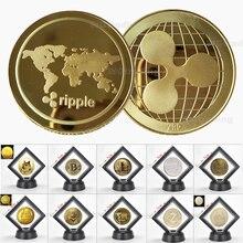 Монета Биткоин Ripple Dogecoin zbring Dash, коллекционный подарок XRP, коллекция искусства, физическая Серебряная Памятная копия монет