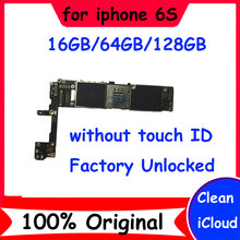 Clean icloud Original Unlocked motherboard for iphone 6S without touch ID 16GB 64GB 128GB mainboard Good working logic board(China)