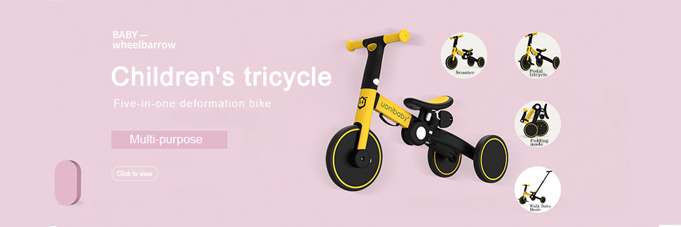 Baby Bike Children Bicycle Kids Balancing Car Folding Trike Kids' Trikes 3 in 1 Children Scooter Baby Walker Trike Bike for Kids
