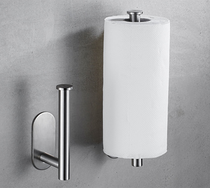 Free Kitchen Roll Paper Accessory Wall Mount Toilet Paper Holder Stainless Steel Bathroom tissue towel accessories rack holders